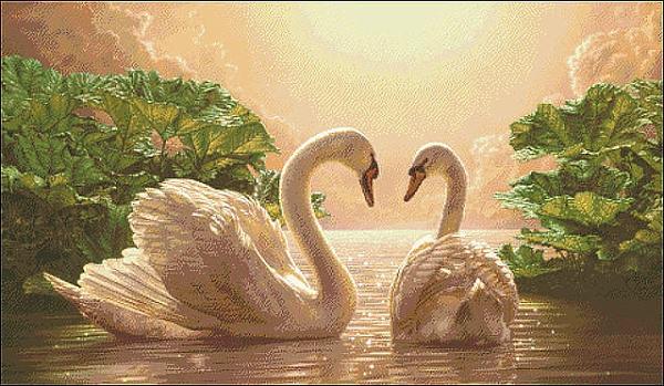 Два лебедя привлекут любовь!